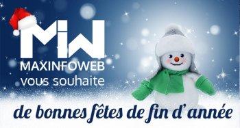 Maxinfoweb vous souhaite de très bonnes fêtes de fin d'année !